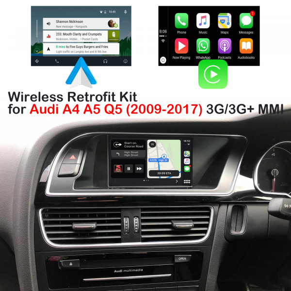 Auto Retrofit - Audi Q5 Sq5 (2009-2016) Apple Carplay &Amp; Android Auto Retrofit Kit