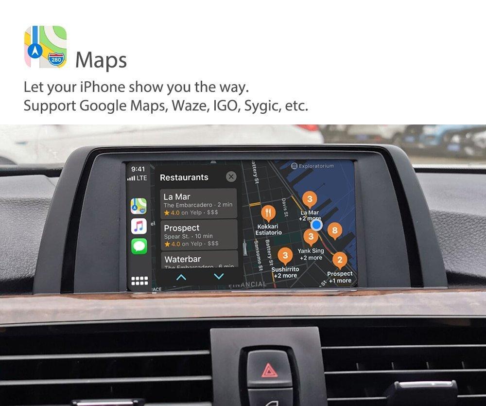 Auto Retrofit - Bmw Nbt (Cic-High) Idrive Apple Carplay &Amp; Android Auto Retrofit Kit (Wireless)