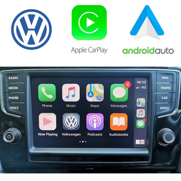 Auto Retrofit - Apple Carplay &Amp; Android Auto Activation For Vw Mib2 App Connect