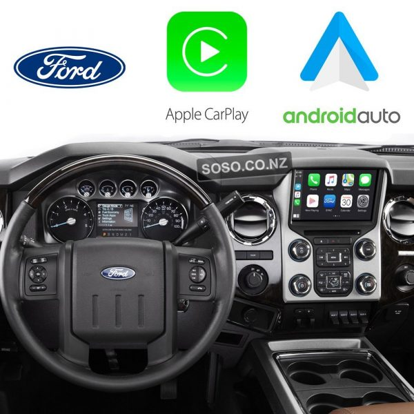 Auto Retrofit - Ford F-250 F-350 Superduty Wireless 2013~2017 Apple Carplay &Amp; Android Auto Integration Kit