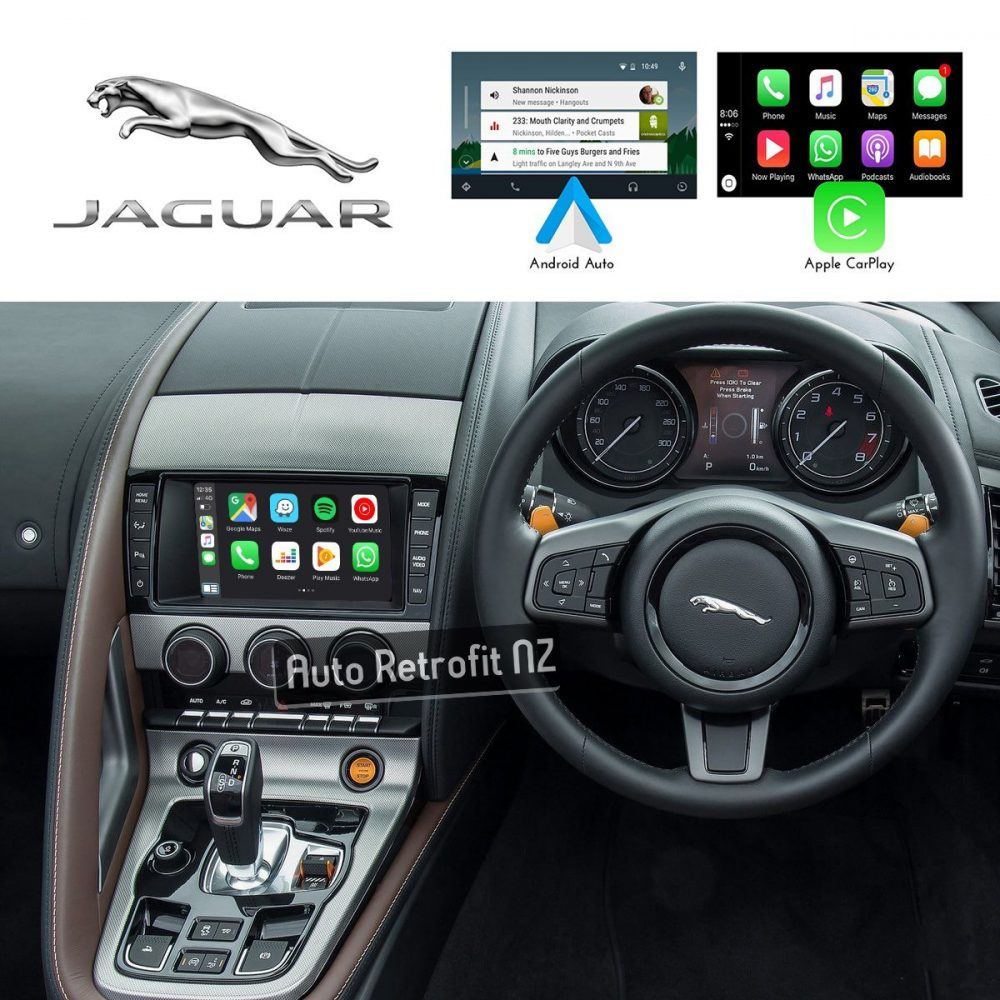 Auto Retrofit - Jaguar F-Type 2013-2016 Apple Carplay &Amp; Android Auto Retrofit Kit (Wireless)