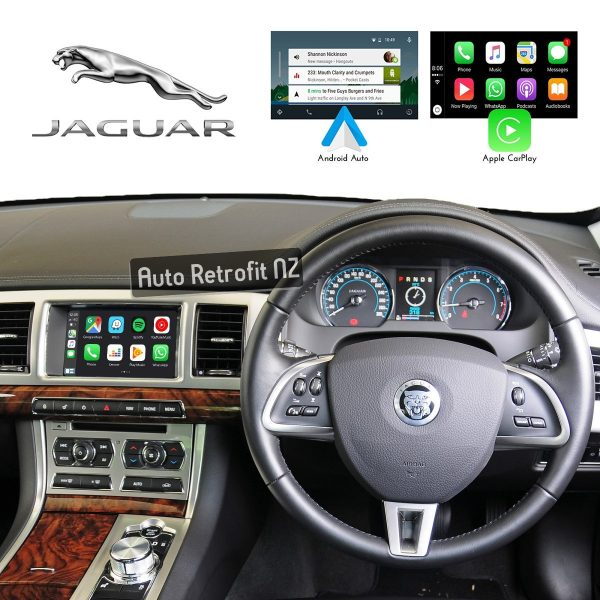Auto Retrofit - Jaguar Xf 2012-2015 Iam2.1 Apple Carplay &Amp; Android Auto Retrofit Kit (Wireless)