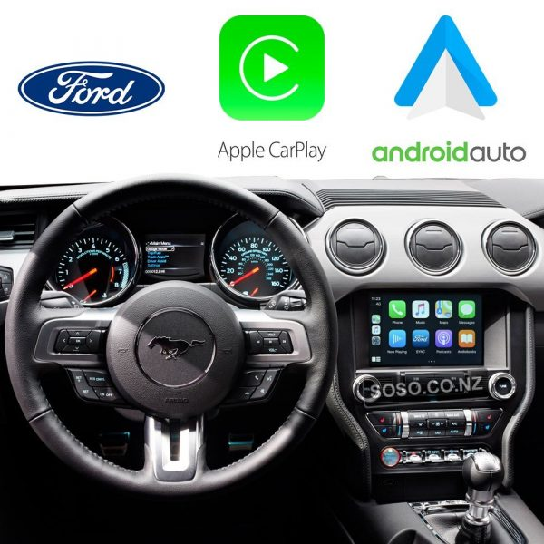 Auto Retrofit - Ford Mustang 2015~2017 Wireless Apple Carplay &Amp;Amp; Android Auto Integration Kit
