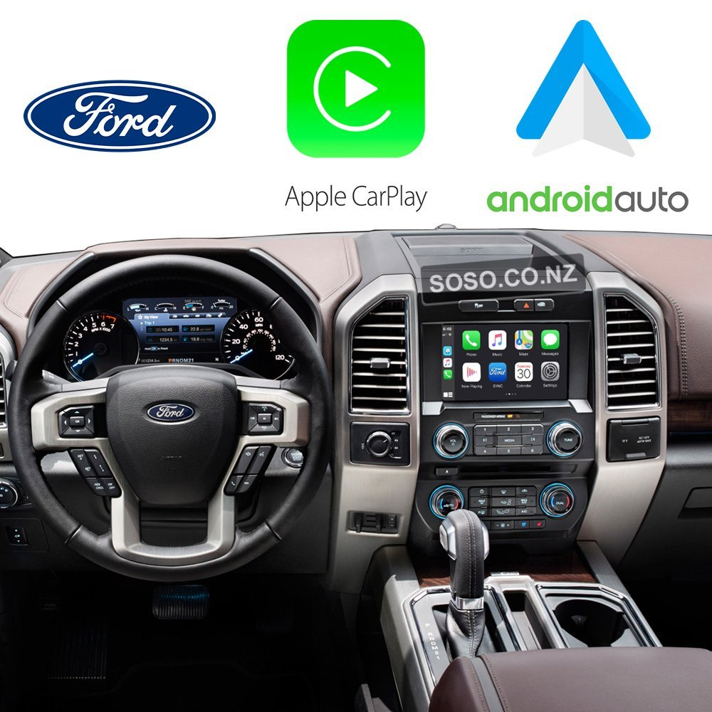 Auto Retrofit - Ford Sync2 Myford Touch® Wireless Apple Carplay &Amp; Android Auto Integration Kit
