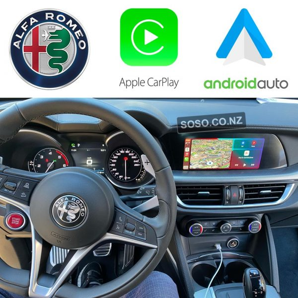 Auto Retrofit - Alfa Romeo Stelvio 2015-2020 Wireless Apple Carplay &Amp; Android Auto Integration Kit