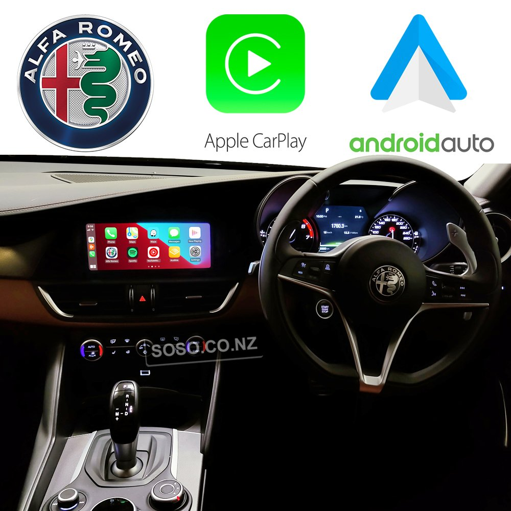 Auto Retrofit - Alfa Romeo Giulia 2015-2020 Wireless Apple Carplay &Amp; Android Auto Integration Kit