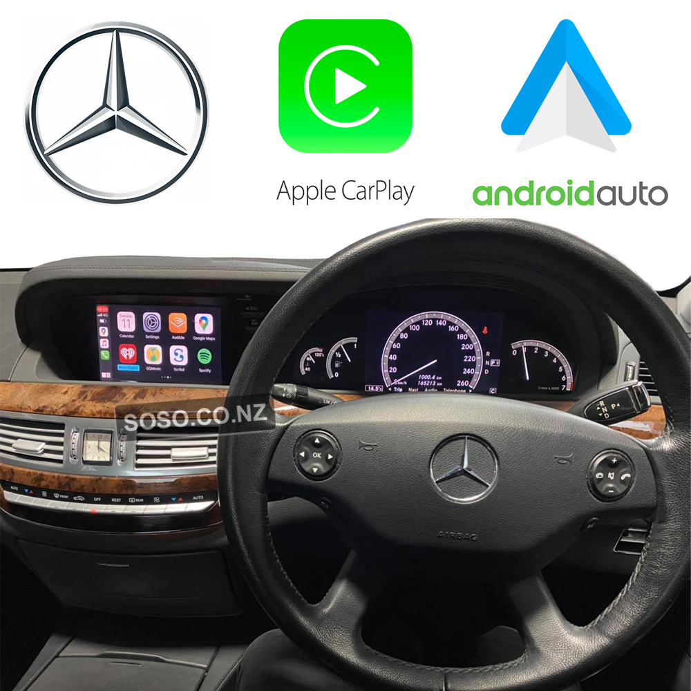 Auto Retrofit - Mercedes Benz S-Class (2007-2012) Carplay And Android Auto Upgrade Kit
